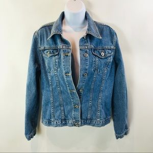 Sundance Catalog Womens Jean Jacket Blue Sz M